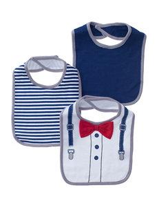 Baby Gear Navy Bibs & Burp Cloths