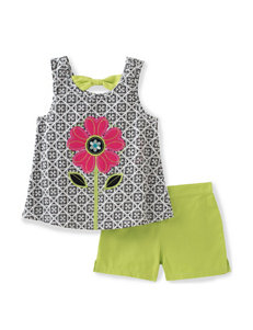 Kids Headquarters 2-pc. Flower Top & Shorts Set - Baby 12-24 Mos.