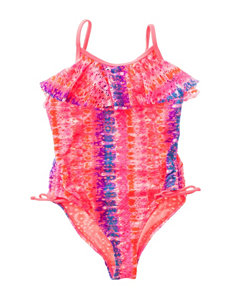Angel Beach Coral One-piece Swimsuits