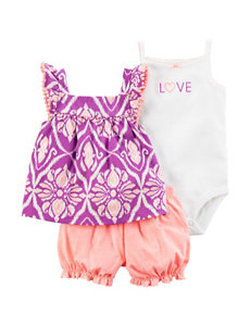 Carter's 3-pc. Tunic Top & Diaper Cover Set - Baby 3-18 Mos.