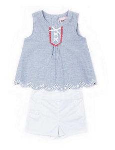 Little Lass 2-pc. Sailor Top & Shorts Set - Girls 2-6x