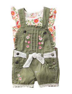 Nanette 2-pc. Top & Embroidered Shortalls Set - 12-24 Mos.