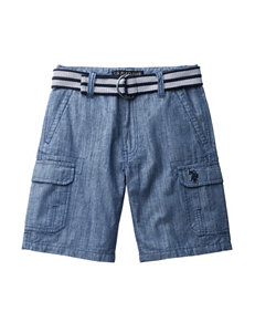 U.S. Polo Assn. Belted Cargo Shorts - Boys 4-7