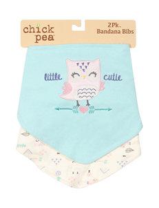 Cutie Pie Mint Bibs & Burp Cloths