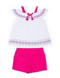 Little Lass White / Pink