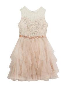 Rare Editions Lace & Ruffle Dress - Girls 7-16