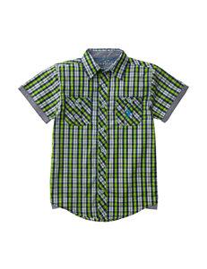 U.S. Polo Assn. Embroidered Logo Woven Shirt - Boys 4-7