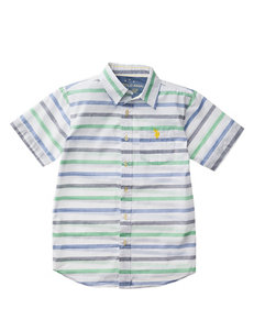 U.S. Polo Assn. Embroidered Logo Woven Shirt - Toddler Boys