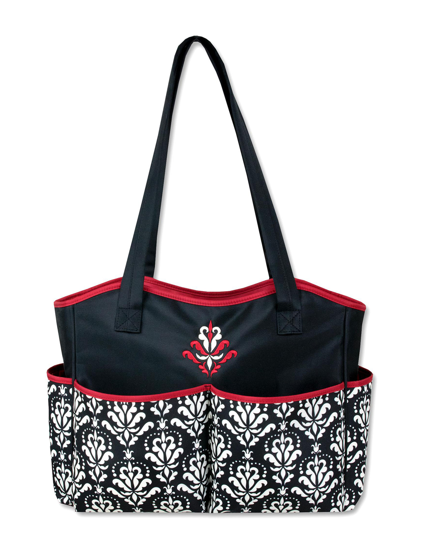 Baby Essentials Black /  White Diaper Bags