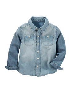 OshKosh B'gosh Denim Woven Shirt - Toddler Boys