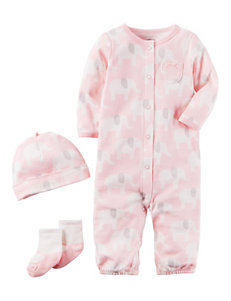 Carter's 3-pc. Elephant Convertible Gown Set - Baby 0-9 Mos.