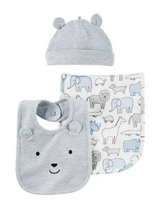 Carter's Blue Bibs & Burp Cloths