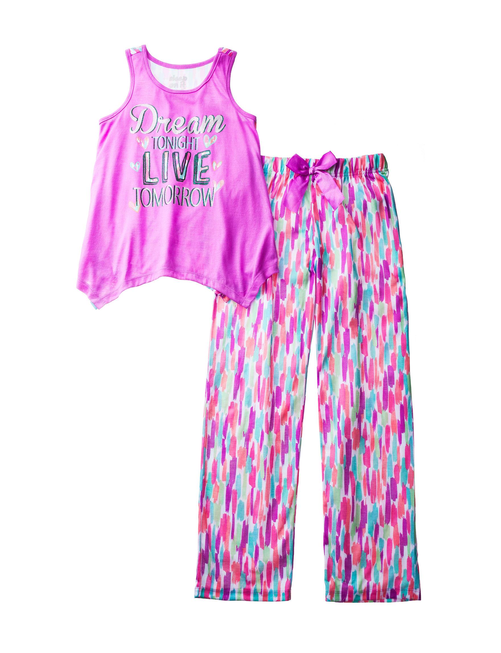 Cloud Nine Purple Pajama Sets