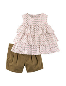 Carter's 2-pc. Gauze Tiered Top & Shorts Set - Baby 3-24 Mos.