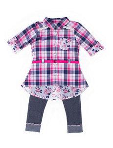 Little Lass 2-pc Chiffon Top & Leggings Set - Baby 12-24 Mos.
