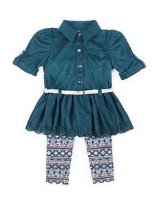 Little Lass 2-pc. Faux Suede Top & Leggings Set - Baby 12-24 Mos.