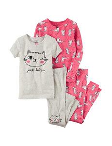 Carter's 4-pc. Just Kitten Pajama Set - Girls 10-12