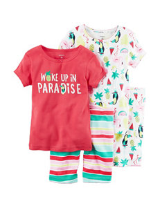 Carter's 4-pc. Paradise Pajama Set - Girls 4-8