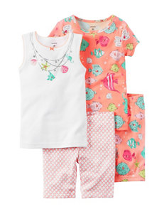 Carter's 4-pc. Shell Necklace Pajama Set - Girls 10-12