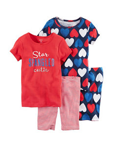 Carters 4-pc. Star Spangled Cutie Pajama Set - Girls 4-8