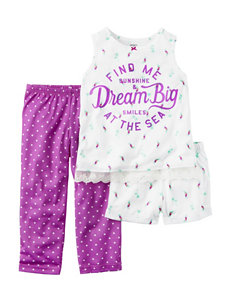 Carter's 3-pc. Dream Big Pajama Set - Girls 7-16