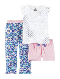 Carter's 3-pc. Polka Dot Henley Pajama Set - Girls 4-8
