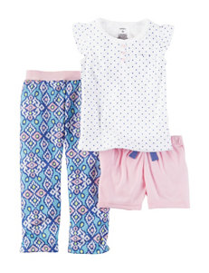 Carter's 3-pc. Polka Dot Henley Pajama Set - Girls 7-16