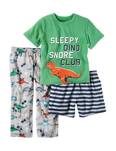 Carter's 3-pc. Sleepy Dino Pajama Set - Toddler Boys