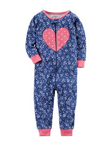 Carter's Heart Appliqué Coverall - Toddler Girls