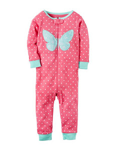 Carter's Butterfly Appliqué Coverall - Toddler Girls