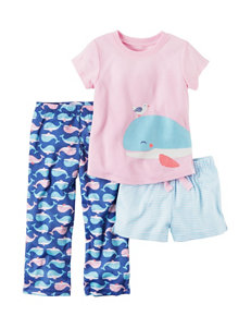 Carter's 3-pc. Whale Pajama Set - Toddler Girls
