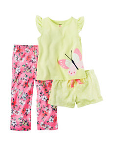 Carter's 3-pc. Butterfly Pajama Set - Girls 7-16