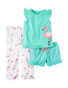 Carter's 3-pc. Flamingo Pajama Set - Girls 7-16