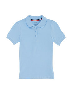 French Toast Light Blue Polos