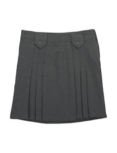French Toast Front Pleated Skirt with Tabs - Girls 7-20