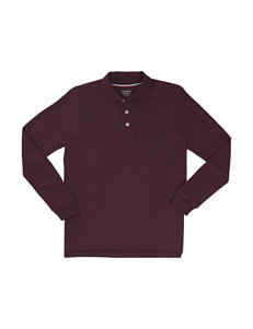 French Toast Burgundy Polos