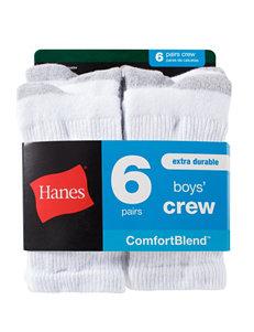 Hanes 6-pk. Comfort Blend Crew Socks – Boys 8-20