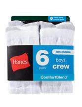 Hanes® 6-pk. Comfort Blend™ Crew Socks – Boys 8-20