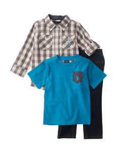U.S. Polo Assn. 3-pc. Woven Shirt, T-shirt & Pants Set - Boys 4-7