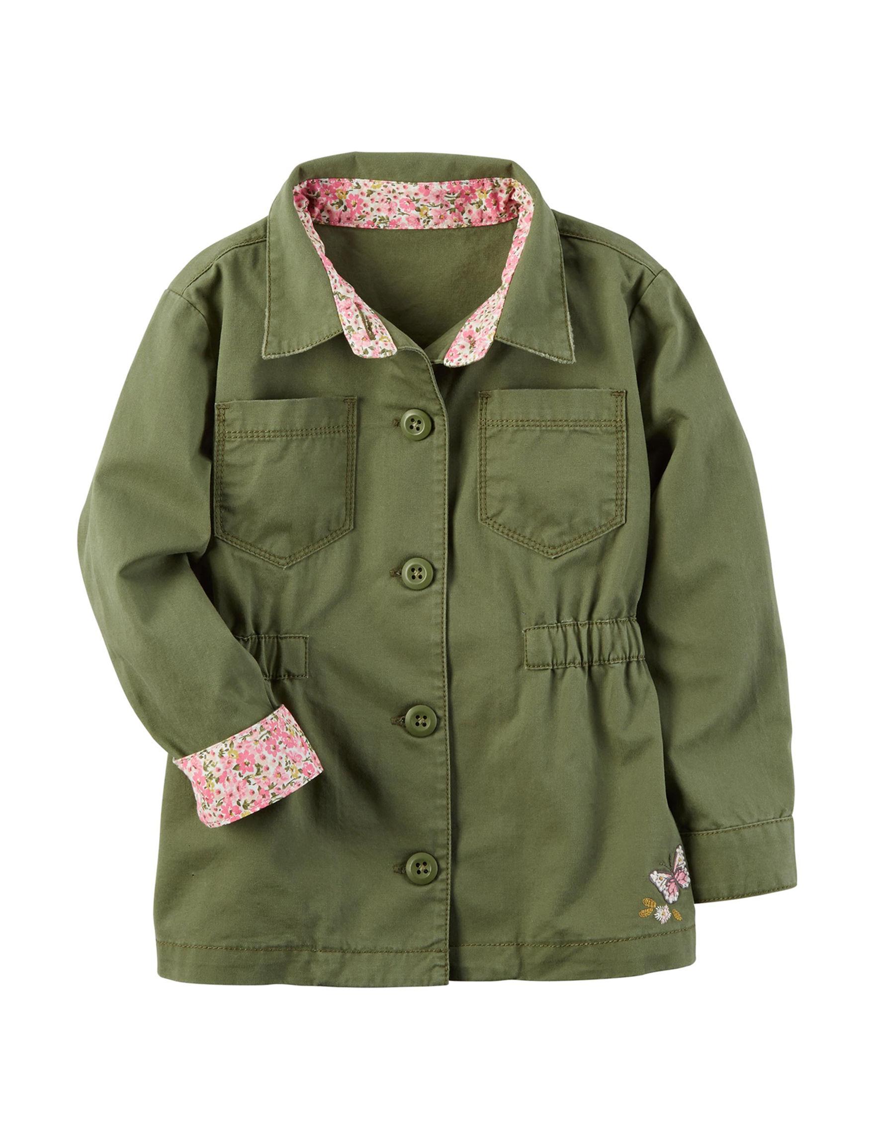 Carter's Olive Fleece & Soft Shell Jackets