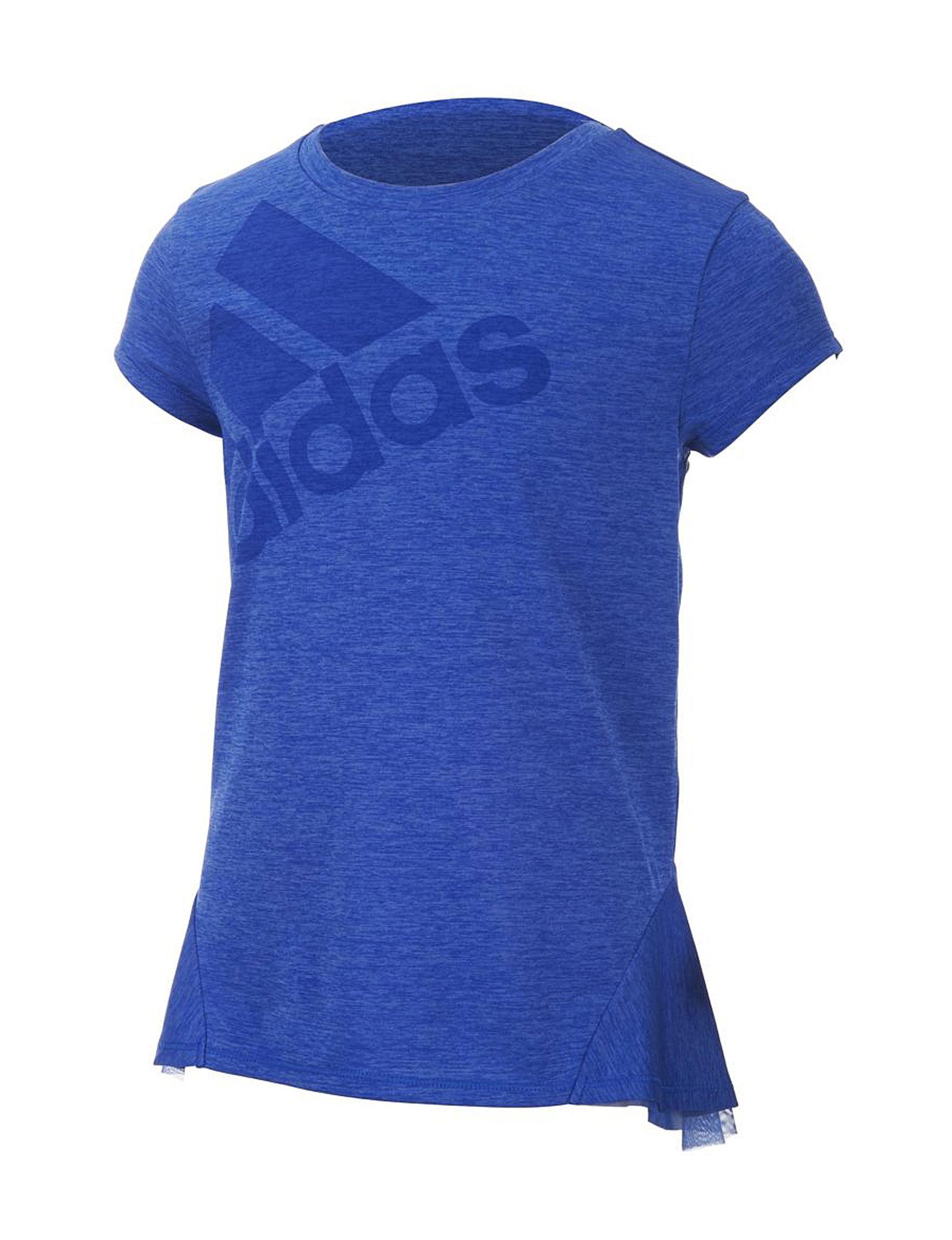 Adidas Blue Tees & Tanks