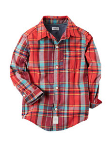 Carter's Plaid Woven Top - Toddler Boys