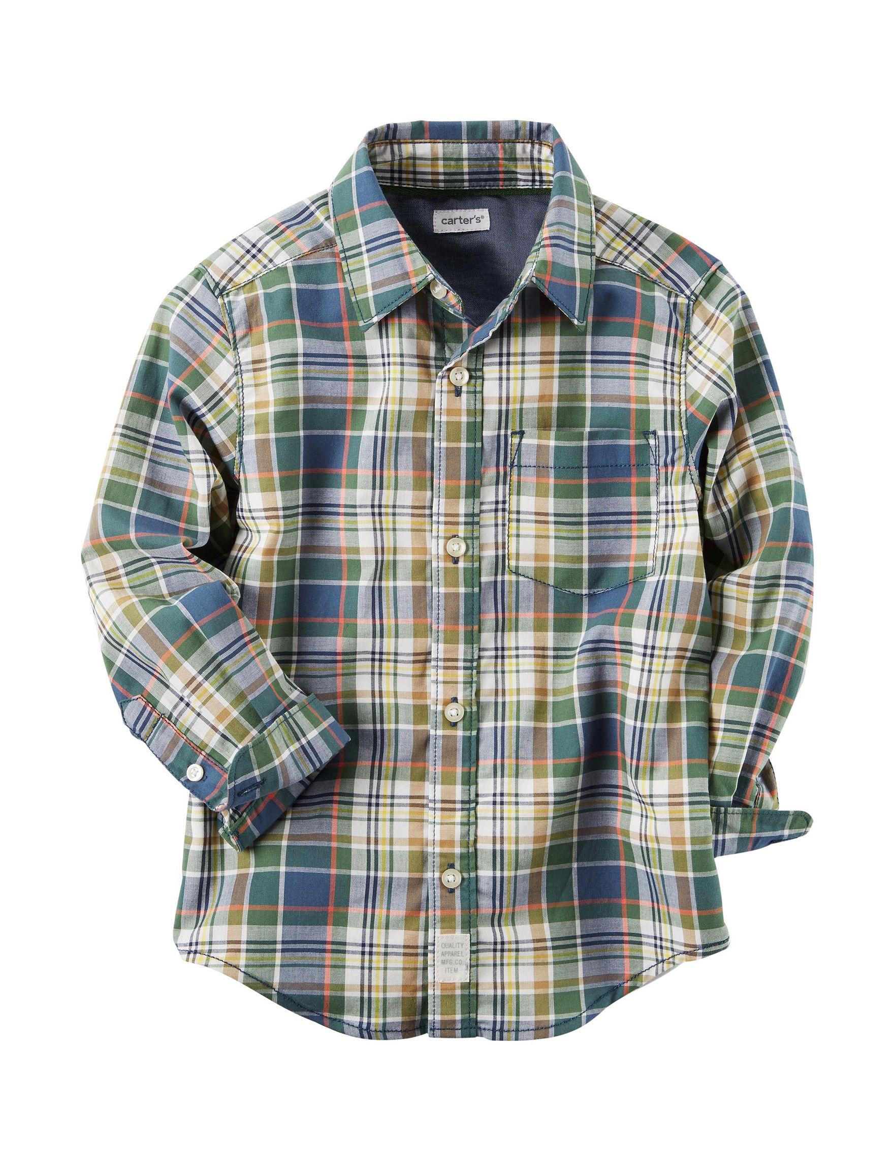 Carter's Plaid Casual Button Down Shirts
