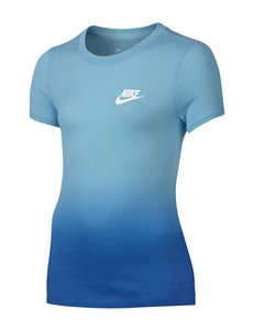 Nike Blue Tees & Tanks