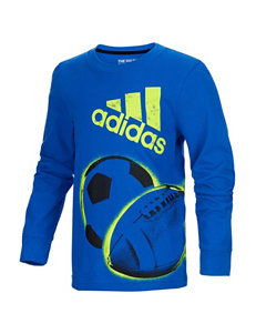 adidas All Sports Screen Print T-shirt - Toddlers & Boys 4-7x