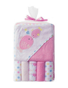 Baby Gear Pink Hooded Towels Washcloths