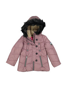 London Fog Burgundy Puffer & Quilted Jackets