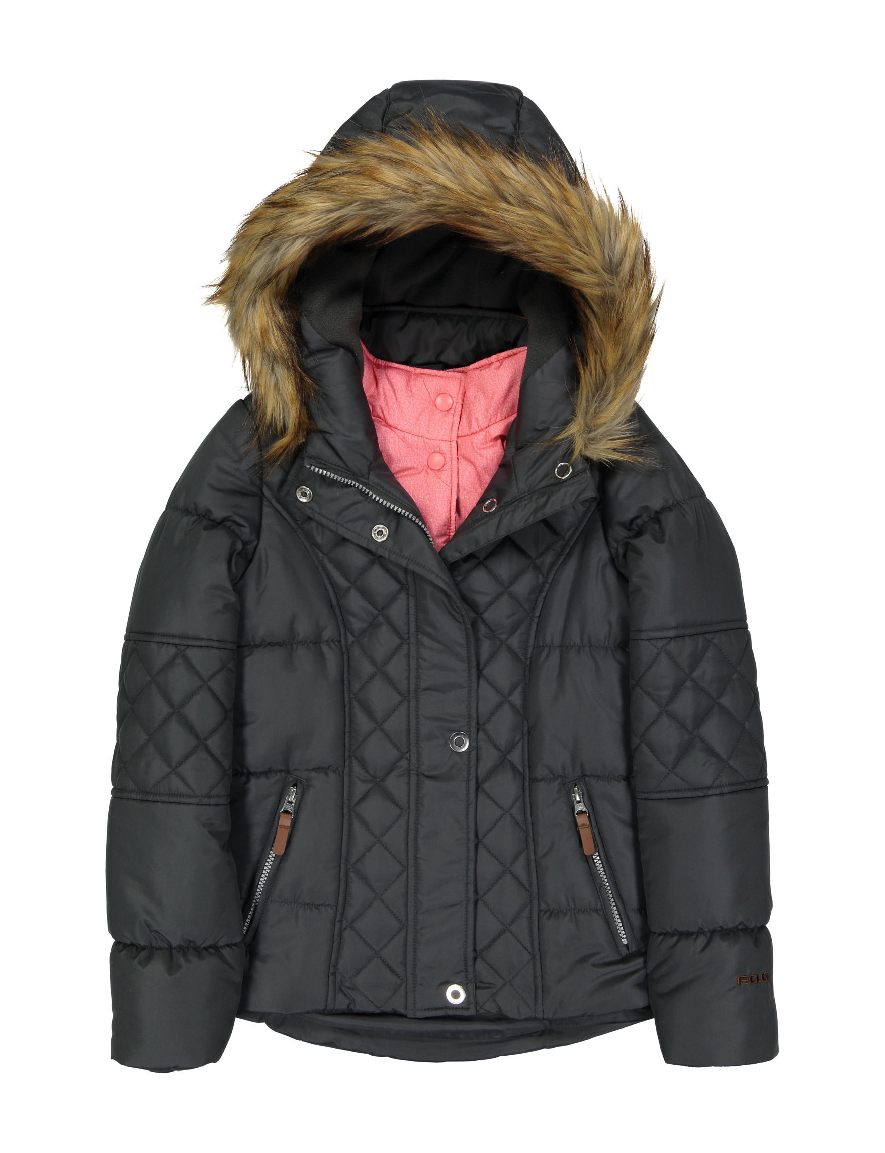 Jessica Simpson Charcoal Puffer & Quilted Jackets
