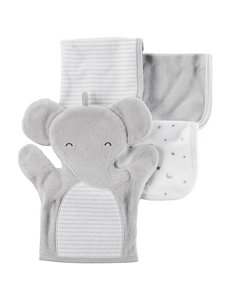 Carter's Grey Washcloths