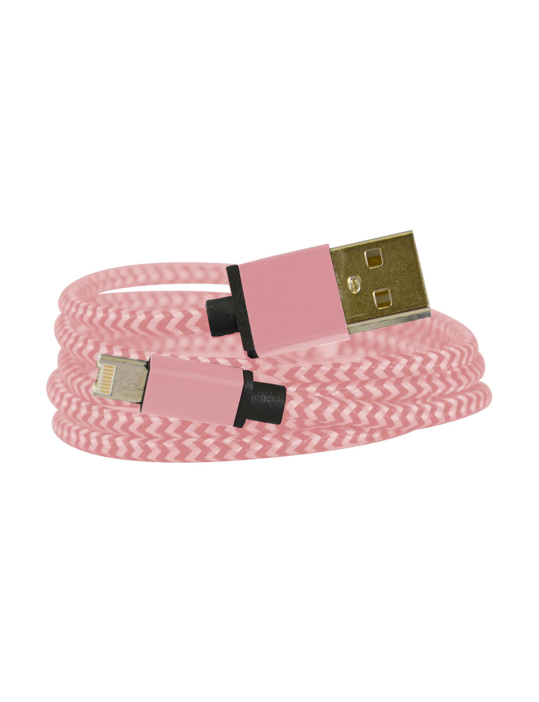 Emio Rose Gold Cables & Outlets Tech Accessories